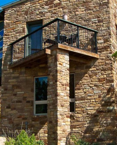 Rutherford Custom Homes-built balcony directed water into home.