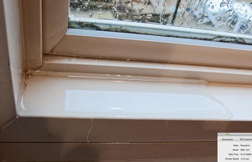 Rutherford Custom Homes' heavy windows leaks