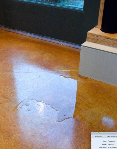 Rutherford Custom Homes' leaking doors.