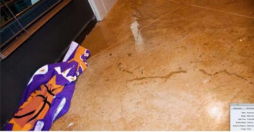 One of Rutherford Custom Homes' door leaks.