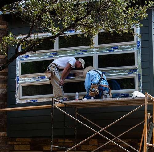we sealed Rutherford Custom Homes leaking windows