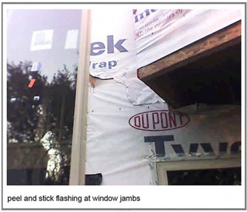 Rutherford Custom Homes' did not seal Tyvek Home wrap or windows