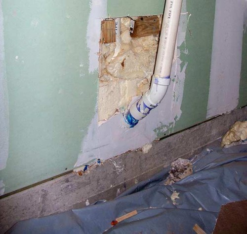 Rutherford Custom Homes new plumbing had to be replaced