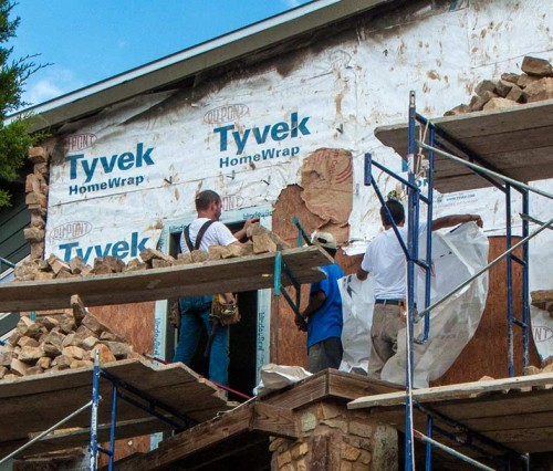 Beau Rutherford testified that he approved Tyvek installation