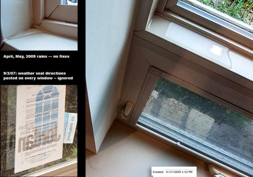 Rutherford Custom Homes did not weather-seal windows