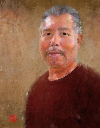 Chon Esquivel, travertine craftsman on Wimberley, TX, home